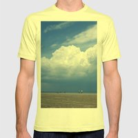 Beach Mens Fitted Tee Lemon SMALL