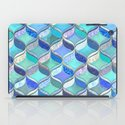 Patchwork Ribbon Ogee Pattern in Blues & Greens iPad Case