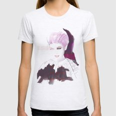 Ethno fashion illustration Womens Fitted Tee Ash Grey SMALL