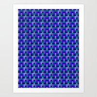 Woven Pixels II Art Print