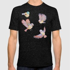 Birds of Paradise Mens Fitted Tee Tri-Black SMALL