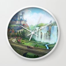 epic fantasy castle  Wall Clock