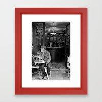 At the Cafe Framed Art Print