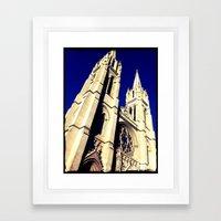 Denver Towers Over Framed Art Print