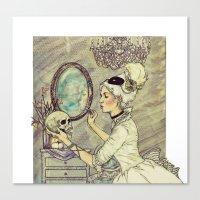 Marie Antoinette Halloween Canvas Print