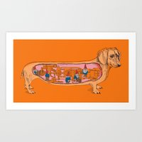 Secrets Of The Dachshund… Art Print