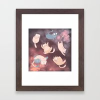 Space Cats Framed Art Print