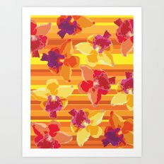 Fluor Flora - Arancio Art Print