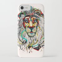 lion iPhone & iPod Cases featuring Lion by Felicia Atanasiu