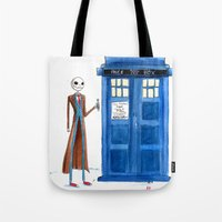 Doctor Wholington, Pumpkin Time Lord King! Tote Bag