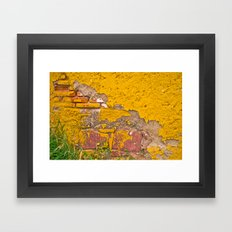 Mexico in Yellow Framed Art Print