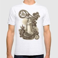 T Is For Tea Mens Fitted Tee Ash Grey SMALL