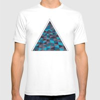 Triangulation (Inverted) Mens Fitted Tee White SMALL