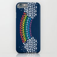 iPhone & iPod Case featuring Rainbow Invaders by Thiago García