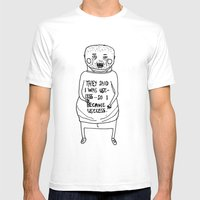 I Became Useless... Mens Fitted Tee White SMALL