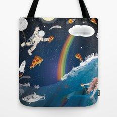 Intergalactic Undersea Pizza Party Tote Bag