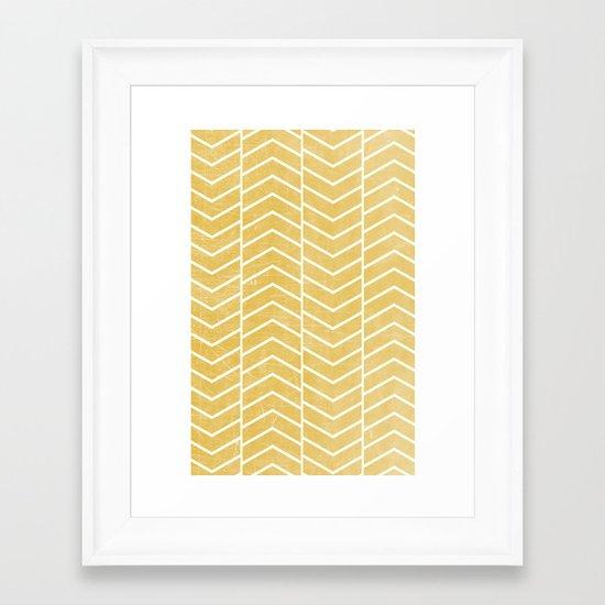 Yellow Chevron Framed Art Print