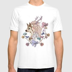 Oh My Deer SMALL White Mens Fitted Tee