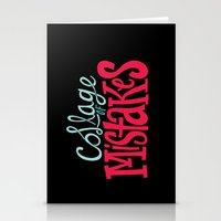 Collage of Mistakes Stationery Cards