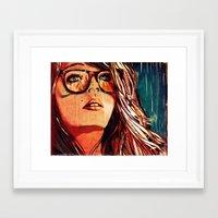 Framed Art Print featuring RAINING FIRE by Stephan Parylak