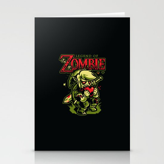 Legend of Zombie Stationery Card