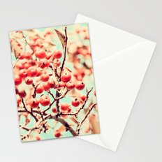 Botanical Malus, Crabapple Wild Apple Ripe Fruit on Tree Vintagely Stationery Cards