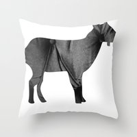 Goat (The Living Things Series) Throw Pillow