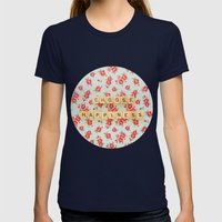 Choose Happiness Womens Fitted Tee Navy SMALL