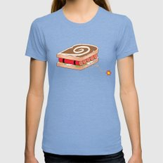 Dynamite Sandwich Womens Fitted Tee Tri-Blue SMALL