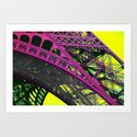 purple paris Art Print