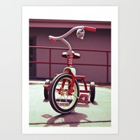 Tricycle Americana Art Print