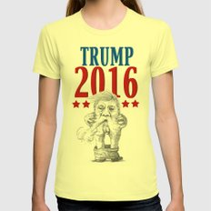 Trump 2016 Womens Fitted Tee Lemon SMALL