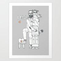 H+W Art Print