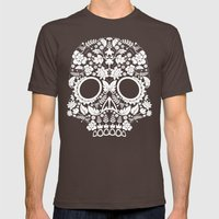 Day Of The Dead Skull No… Mens Fitted Tee Brown SMALL