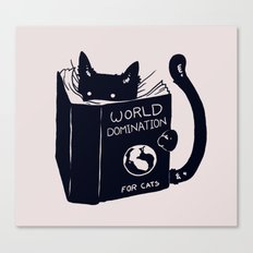 World Domination For Cat… Canvas Print