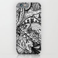 iPhone & iPod Case featuring BLACK THOUGHTS  by Renata Kats