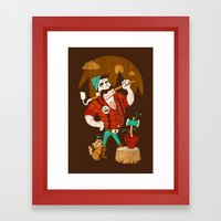Green Thumberjack Framed Art Print