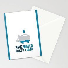 SAVE WATER Stationery Cards