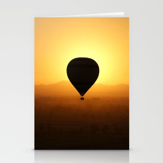 Balloon Over Valley of the Kings Stationery Card