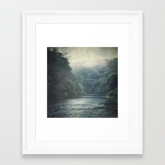 valley and river Framed Art Print