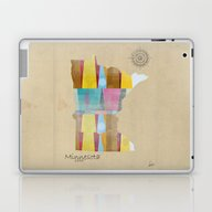 Laptop & iPad Skin featuring Minnesota State Map  by Bri.buckley