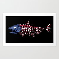 fish head Art Print