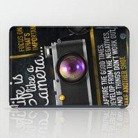 Life is like a Camera iPad Case