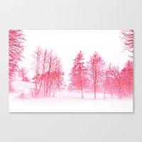 Pink Winter Canvas Print