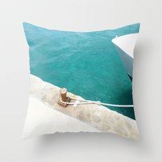 Boat Green Throw Pillow