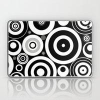 Black And White Circles Laptop & iPad Skin