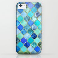 Cobalt Blue, Aqua & Gold… iPhone 5c Slim Case