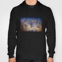 Stars world map. Blue. World map Hoody