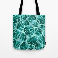 Tropical Leaf Monstera Pattern  Tote Bag