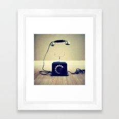 Hello, are you listening. Framed Art Print